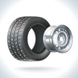 Hiver de pneu de voiture Photos stock