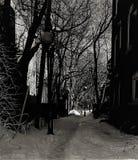 Hiver de Ruelle Montreal imagen de archivo