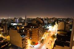 Hiver de scène de nuit de Buenos Aires Photos libres de droits