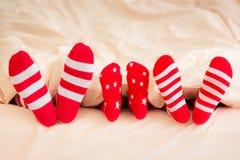 Hiver de vacances de famille de Noël de Noël Image libre de droits