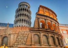 hiver de village global de Rome vers le Dubaï Images libres de droits