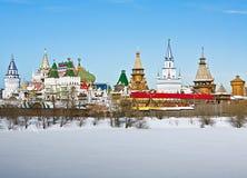 Hiver de vue Izmailovo Kremlin à Moscou photo stock