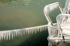 Hiver dur de la Suisse Genève dans le lac Leman Photo stock