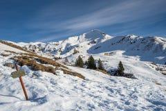 Hiver en montagne Photos libres de droits