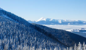 Hiver en montagnes Photographie stock
