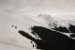 Hiver en montagnes de Parang Image libre de droits