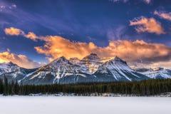Hiver en parc national de Banff photo libre de droits