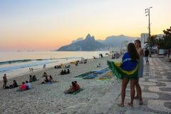 Hiver en Rio de Janeiro - le Brésil Images libres de droits