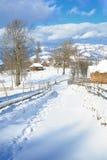 Hiver en Transylvanie Roumanie Photos stock