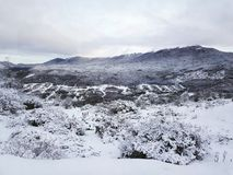 Hiver et paysage neigeux images stock