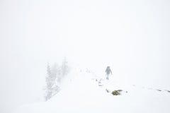 Hiver extrême augmentant dans les Alpes Images libres de droits