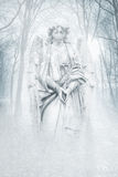 Hiver Forest Angel Image stock