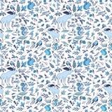 Hiver Forest Pattern de vecteur Illustration Stock