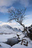 Hiver, Glen Coe Photo stock