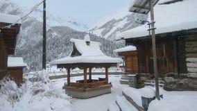Hiver Himachal Pradesh de Chhitkul de neige photo stock