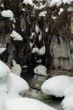 Hiver kootenay de neige de canyon de marbre Photos stock