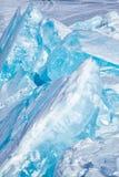 Hiver le lac Baïkal image libre de droits