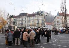 Hiver Ljubljana Photos libres de droits