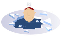 Hiver nageant l'illustration comique illustration stock
