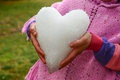 Hiver, neige et amour froid Photo libre de droits