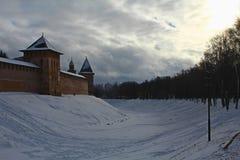 Hiver, Novgorod Velikiy Image libre de droits