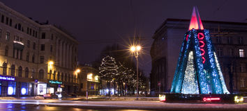 Hiver Riga dans le 31 décembre de 2014 Photographie stock libre de droits
