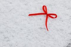 Hiver rouge deux de coeurs de neige Image stock