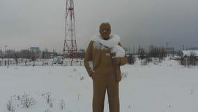 Hiver vieux Lénine banque de vidéos