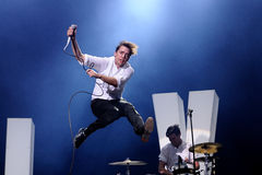 The Hives (band) performs at Universidad Complutense Stock Images
