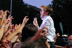 The Hives (band) performs at Universidad Complutense Stock Photos