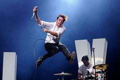 The Hives (indie rock band) in concert at Universidad Complutense Stock Image