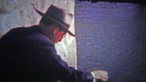 HIXSON, TENN. USA - 1947: Man feeding ducks in a local Hixson pond. stock video footage
