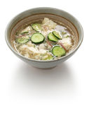 Hiyajiru( cold miso soup ) Royalty Free Stock Photo