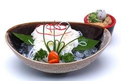 Hiyashi Somen, japonês refrigerou os macarronetes servidos com sau de mergulho Imagem de Stock Royalty Free