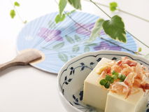 Hiyayakko. Japanese healthy tofu dish good for diet Royalty Free Stock Photo