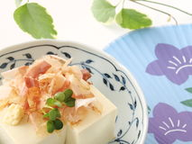 Hiyayakko. Japanese healthy tofu dish good for diet Stock Photos