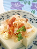 Hiyayakko. Japanese healthy tofu dish good for diet Royalty Free Stock Images