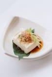 Hiyayakko : Cold Tofu Salad with Katsuobushi Dried, Fermented, and Smoked Skipjack Tuna Royalty Free Stock Photos
