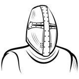 Hjälm av den medeltida riddaren Royaltyfri Foto