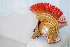 Hjälm av en gladiator arkivbilder