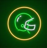 Hjälm för lek för amerikansk fotboll skyddande för spelare stock illustrationer
