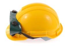 Hjälm- och säkerhetsexponeringsglas Arkivfoto