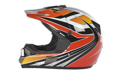 hjälmmotocrossmotorcykel Royaltyfri Foto