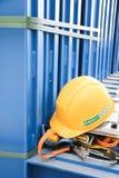 Hjälmsäkerhet av stålbransch Fotografering för Bildbyråer
