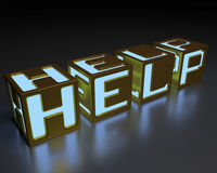 Hjälp Arkivbild