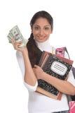 hjälp deltagaren för lånet för kostnadsutbildning den finansiella Royaltyfria Bilder