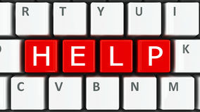 Hjälp för datortangentbord Arkivfoton