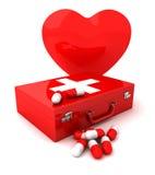hjälp första hjärta Arkivbild