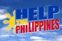Hjälp Filippinerna Arkivfoton