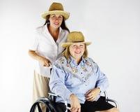 hjälpa för 2 hand Fotografering för Bildbyråer